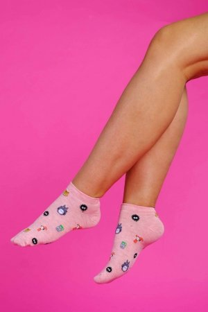 Supa! Sox! Pink Animals ladies socks