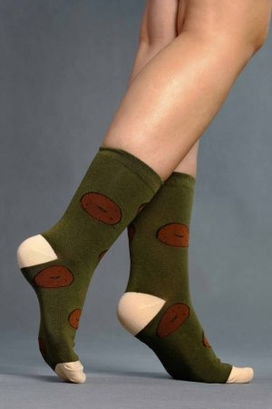 Supa! Sox! Green Pastries ladies socks