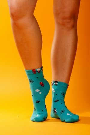 Supa! Sox! Green Dolls ladies socks (JP6108)