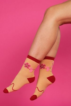 Supa! Sox! Yellow Flowers ladies socks