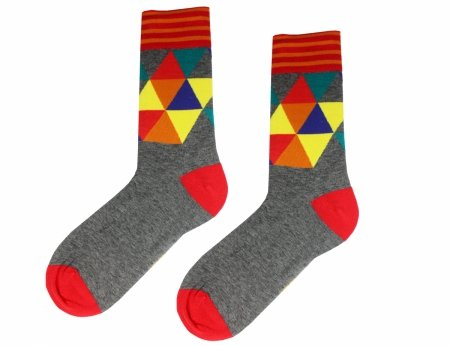 Men`s socks with triangles Estilo Sabroso Es04608