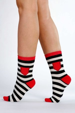 Supa! Sox! Black Stripes ladies socks