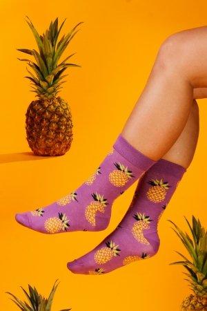Supa! Sox! Purple Pineapple Socks (AM0015)