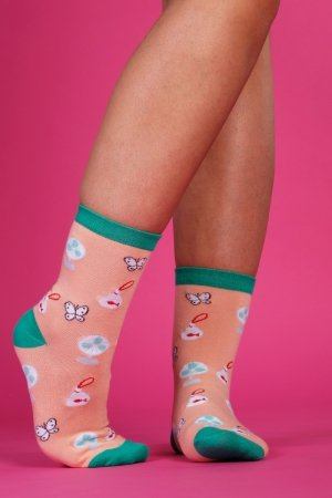 Supa! Sox! Peach Fun ladies socks