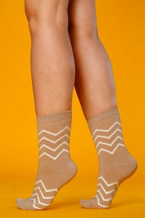 Supa! Sox! Brown Stripes ladies socks