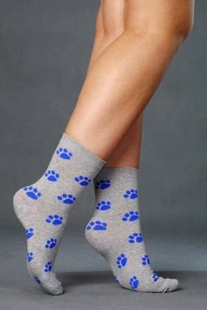 Supa! Sox! Grey Steps ladies socks