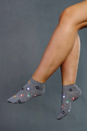Skarpety damskie [Stopki] Supa! Sox! Grey Animals