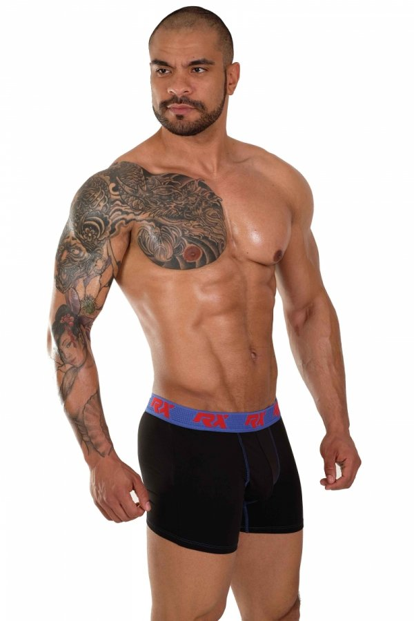 Boxerky RX SPORT Ultra Black+Blue