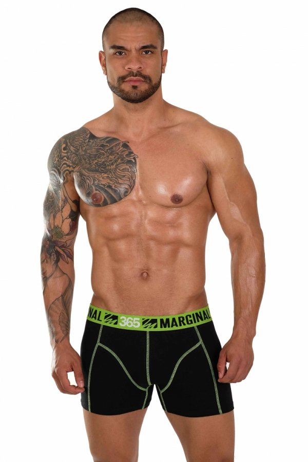 Boxerky MARGINAL 365 Black+Green