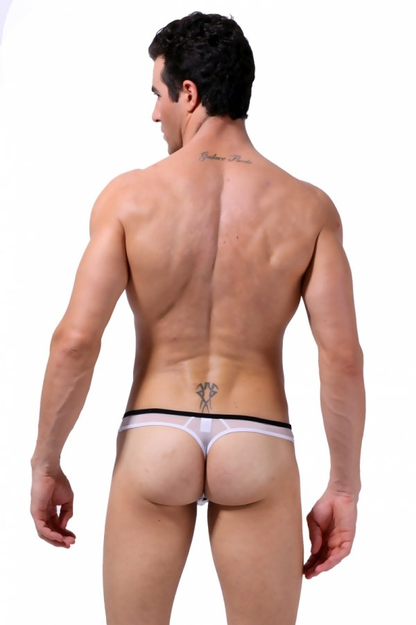 Panska Tanga BODY GMW X-RATED White+Black