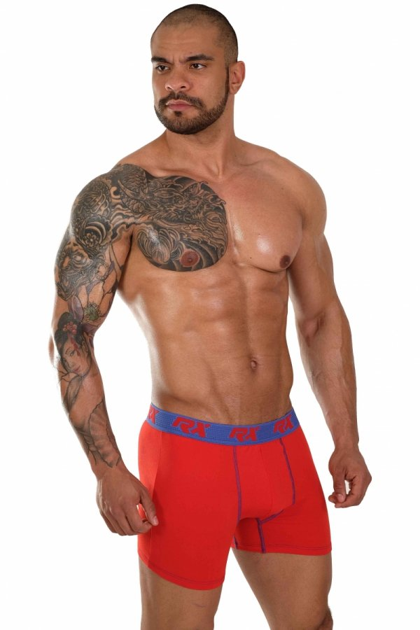 Boxerky RX SPORT Ultra Red+Blue