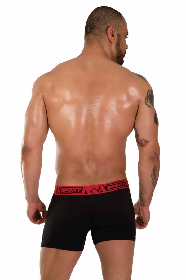 Boxerky RX SPORT SOFT Black+Red