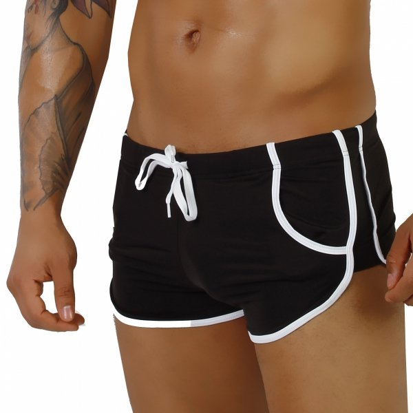 Supa! Swim! Retro Black Swimwear (Boxers)
