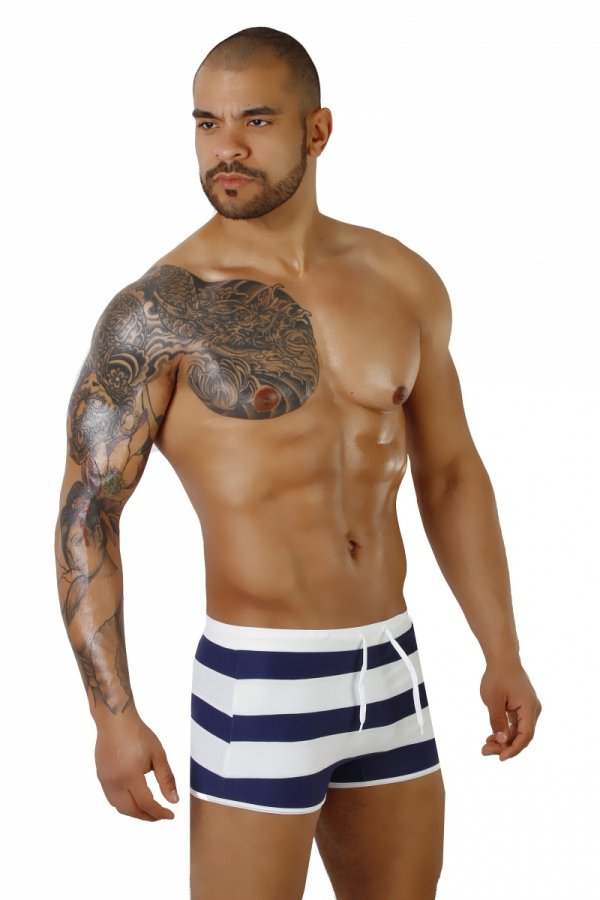 Supa! Swim! Navy Sailor Swimming boxers