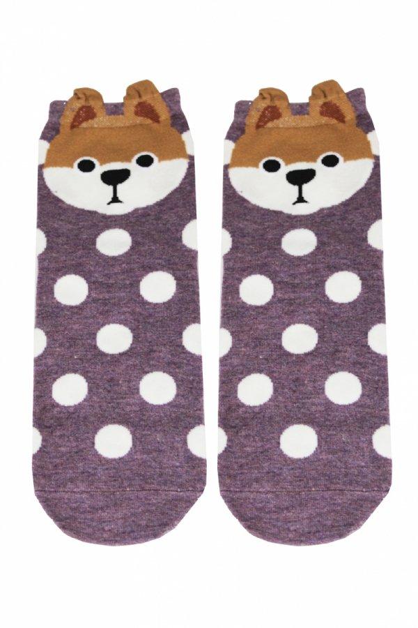 Supa! Sox! Purple Dog ladies socks (JP6143)