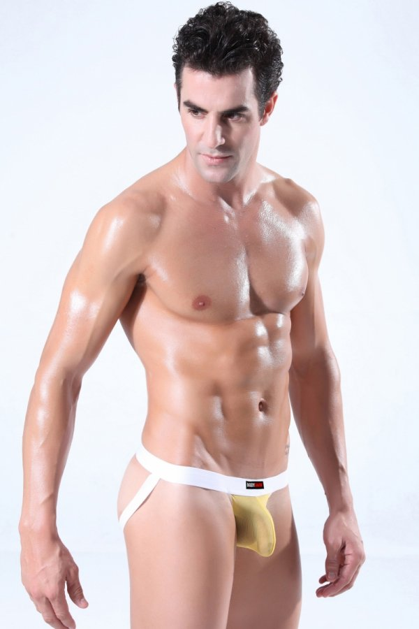 Jockstrap BODY GMW Ultra Mesh Yellow