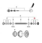 Stożek piasty przód Shimano HB-RM66 prawy
