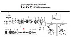 Oś piasty Shimano Nexus SG-3C41 (168mm)