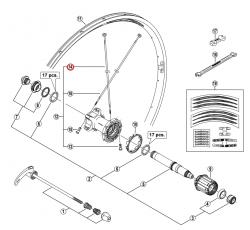 Szprycha Shimano 272mm do WH-R601-R prawa