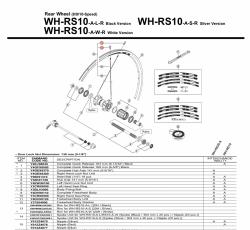 Nypel Shimano WH-RS10 czarny