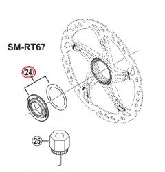 Nakrętka i podkładka tarczy Shimano Center Lock SM-RT67