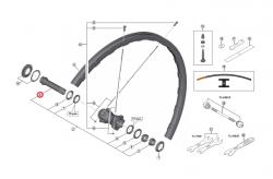 Oś piasty przód Shimano WH-M9000-F15 wewnętrzna