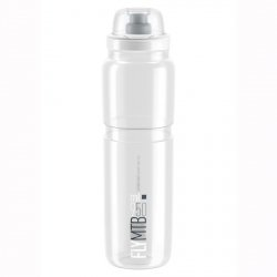 Bidon Elite Fly MTB Clear Grey logo 950 ml