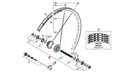 Oś piasty przód Shimano WH-MT15-F kompletna