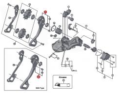 Wózek przerzutki Shimano XTR RD-M9050 GS zewnętrzny