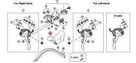 Osłona gumowa dźwigni Shimano ST-6600/5600 (para)