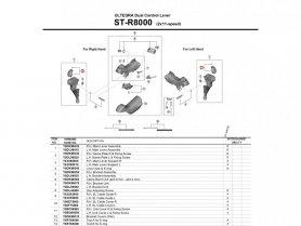Kapa dźwigni Shimano Ultegra ST-R8000 lewa