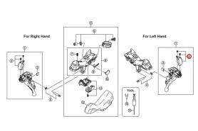 Kapa dźwigni Shimano ST-9000 lewa