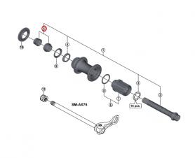 Stożek lewy piasty Shimano FH-M9010