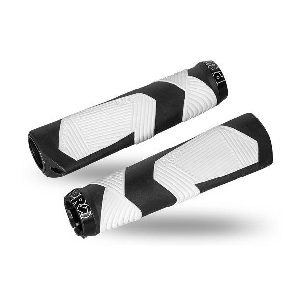 Chwyty kierownicy PRO Ergonomic biało/czarne