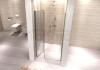 REA - Drzwi prysznicowe OPTIMA 100cm z pojedynczymi drzwiami składanymi
