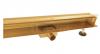 AQUALINE Odpływ liniowy ścienny złoty gold 2w1 pod płytkę 80cm S04GL800