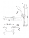 ARMATURA KRAKÓW - STANDARD bateria natryskowa dwuuchwytowa 306-311-00