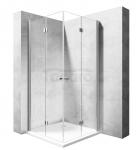 REA - Kabina prysznicowa MODUŁ FOLD prostokątna podwójne drzwi składane 90x110