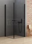 NEW TRENDY Kabina prysznicowa kwadratowa NEW SOLEO BLACK 100x100x195 D-0232A/D-0232A