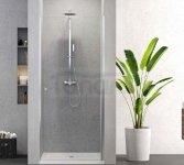 NEW TRENDY - Drzwi prysznicowe wnękowe uchylne 90cm D-0331ASUPERIA