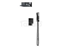 VEDO - zestaw natryskowy SETTE NERO podtynkowy z ramieniem sufitowym VBS7223CZ/30