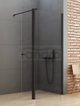 NEW TRENDY Kabina ścianka prysznicowa z ruchomymi drzwiami NEW SOLEO BLACK linia gold 100x54x195 K-0784