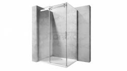 REA - Kabina NIXON - 2 prostokątna EASY CLEAN PREMIUM / drzwi 120 + ścianka 80 /