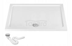 REA Brodzik prysznicowy akrylowy Savoy biały 80x100