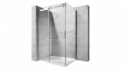 REA - Kabina NIXON - 2 prostokątna EASY CLEAN PREMIUM / drzwi 120 + ścianka 100 /