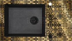 DEANTE - Zlewozmywak CAPELLA PRECIOUS szklano-granitowy 1-komorowy z ociekaczem ZŁOTY  ZSC GG2C