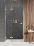 NEW TRENDY Drzwi prysznicowe wnękowe AVEXA GOLD SHINE Linia Platinium 90x200cm