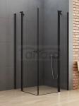 NEW TRENDY Kabina prysznicowa NEW SOLEO BLACK z podwójnymi drzwiami otwieranymi na zewnątrz i do wewnątrz 90x90x195 K-0553