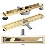 REA - Odpływ liniowy Rea Pure Neo Mirror Gold Pro / Złoty Lustrzany 900mm