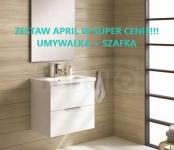ELITA - Zestaw APRIL szafka + umywalka 80 cm